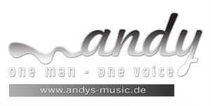 Logo: Andy - one man - one voice